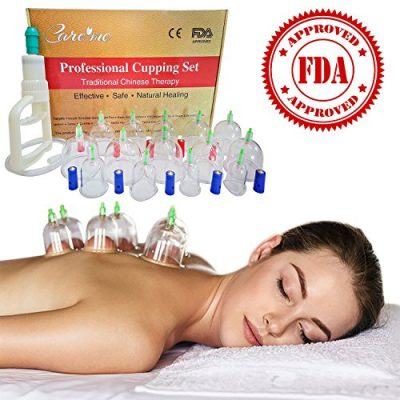 Chinese-Acupuncture-Cupping-Therapy-Sets-FDA-Approved-Guaranteed-5-yr-Life-of-Professional-Medical-Grade-14-Cups-for-Body-Cupping-Massage-with-Vacuum-Suction-Pump-31-Extension-Tube-English-Manual-0
