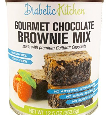 Diabetic-Kitchen-Gourmet-Chocolate-Brownie-Mix-Makes-The-Moistest-Fudgiest-Brownies-Ever-Gluten-Free-High-Fiber-Low-Carb-No-Artificial-Sweeteners-or-Sugar-Alcohols-125-OZ-0