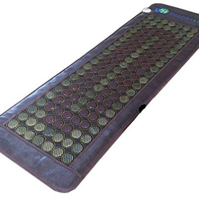 Healthyline-Light-USA-Brand-Natural-154-Jade-and-Tourmaline-2-Stones-Mat-Heated-160f-Negative-Ionsfirfar-infraredtherapy-Size-72x24-US-FDA-Registered-110V-Year-of-Full-USA-Warranty-0