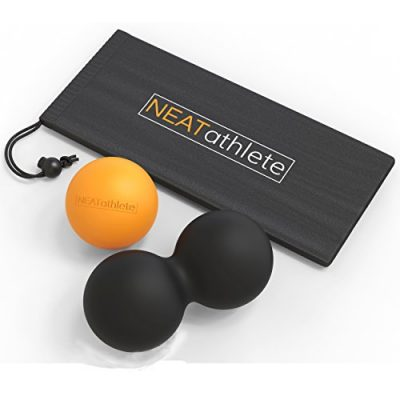 NEAT-ATHLETE-Single-and-Double-lacrosse-ball-style-premium-massage-balls-SET-for-myofascial-release-massaging-balls-and-trigger-point-ball-therapy-FREE-exercise-guide-and-0