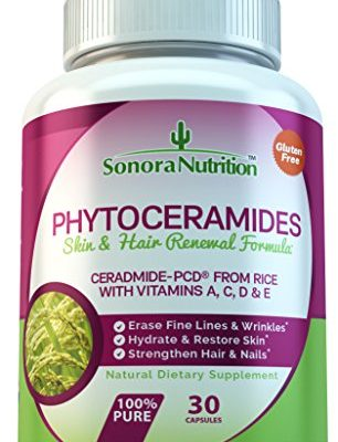 Phytoceramides-Skin-Hair-Renewal-Formula-Ceramide-PCD-from-Rice-with-Vitamins-A-C-D-E-40-mgServing-30-Capsules-0