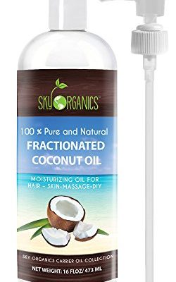 Fractionated-Coconut-Oil-by-Sky-Organics-16oz-100-Pure-MCT-Oil-Cocos-Nucifera-with-PUMP-Ideal-as-a-Massage-Oil-Aromatherapy-Carrier-Oil-Made-in-USA-No-Staining-Tanning-Oil-0
