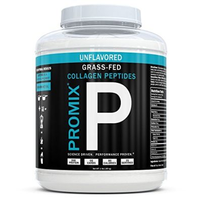PROMIX-Undenatured-100-Grass-Fed-Hydrolyzed-Collagen-Peptide-Protein-1-Ingredient-20G-Protein0G-Carbs0G-Fat-No-Dairy-Soy-Gluten-Preservatives-Non-GMO-Paleo-Joint-Care-Gut-Health-0